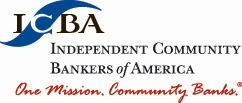 ICBA Logo 2C w one mission red tag